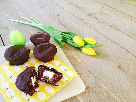 Fun & Healthy afvallen met tips en recepten! | Ding Dongs! (ofwel, gevulde chocolade cakejes met pure chocolade)