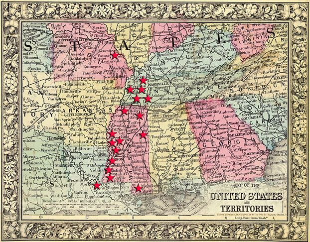 Photo Credit Nell Dickerson 1860 Map Of The Southern States Of The United States