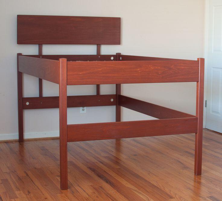 best 25 tall bed frame ideas on pinterest pallet platform bed west elm bedroom and timber. Black Bedroom Furniture Sets. Home Design Ideas