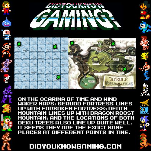 Ocarina of Time, Wind Waker… I have no clue if this was intentional, but it's interesting.