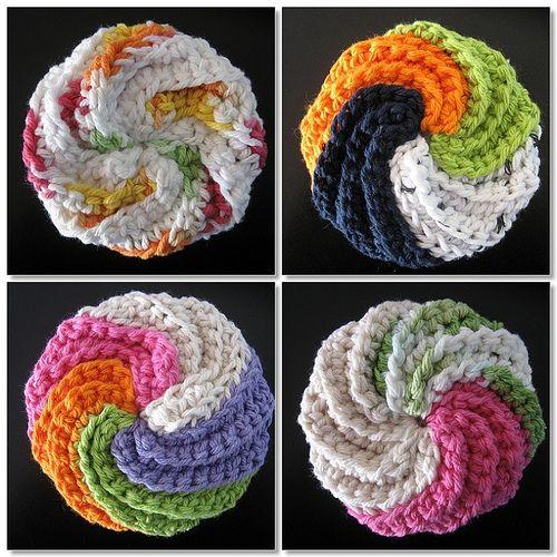 Crochet Patterns Only Spiral Scrubbie : Crochet scrubbies Crochet! Pinterest