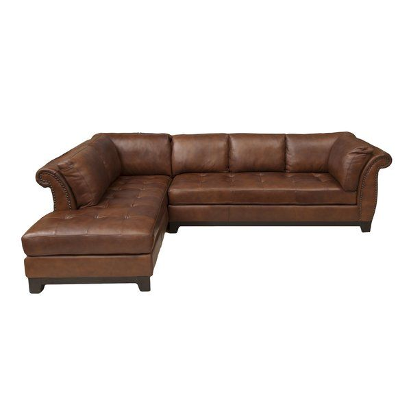 Jeanine Leather 120 Sectional Top Grain Leather Sectional Leather Sectional Brown Leather Sectionals