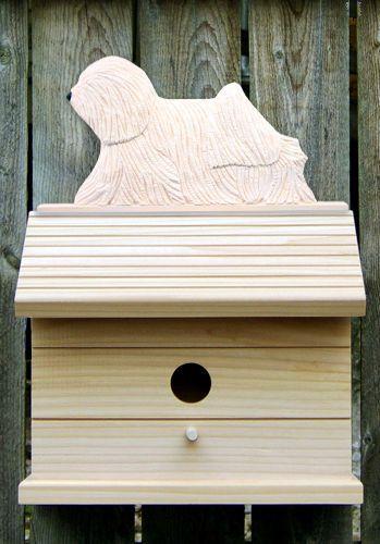 2 Coat Styles-Bird House W/ Puli on Peak. Home,Yard & Garden Dog Breed Products & Gifts #PSMarketingINC