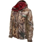 I have this jacket and I love it!! I like that it doesnt have pink in it, and burgundy instead. Field & Stream Women's SmartHeat 3-in-1 Hunting Jacket - Dick's Sporting Goods.