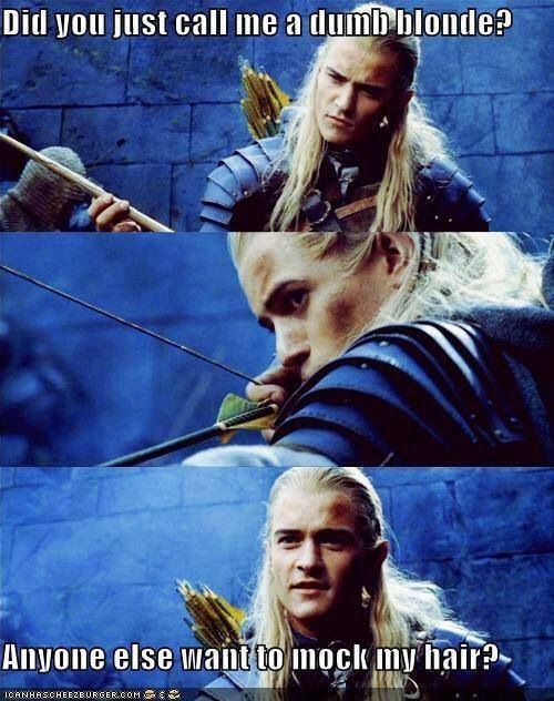 You are so sexy Orlando Bloom, you can wear your hair however you want and still be hot.