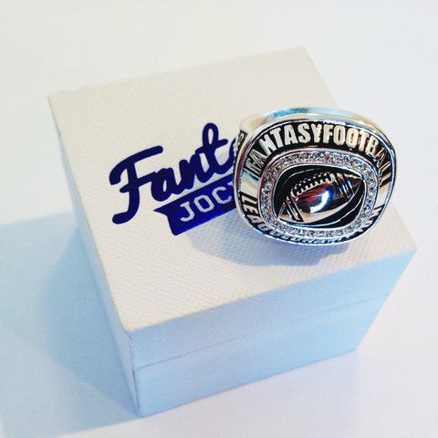 Fantasy Football Championship Ring Trophy - FantasyJocks: Fantasy Football Draft Board Kit | Baseball | Basketball