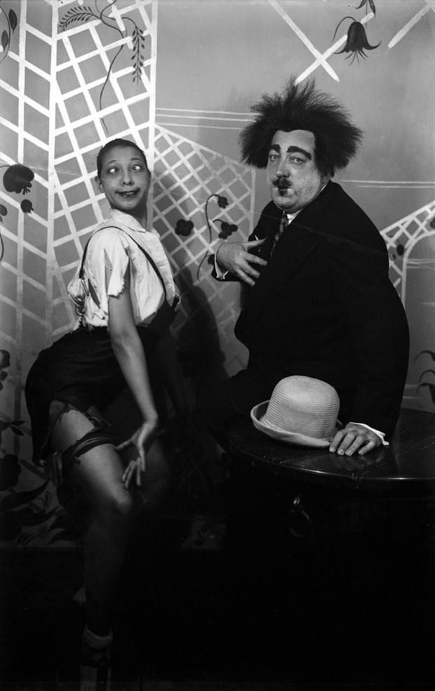 Paul Poiret & Josephine Baker 25 novembre 1925. Bal des Catherinettes de la maison de couture Poiret.