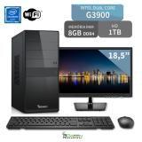 Computador 3green Intel Dual Core G3900 8GB DDR4 1TB com Monitor 18.5 LED HDMI USB 3.0 Wifi Mouse Teclado - 3green technology