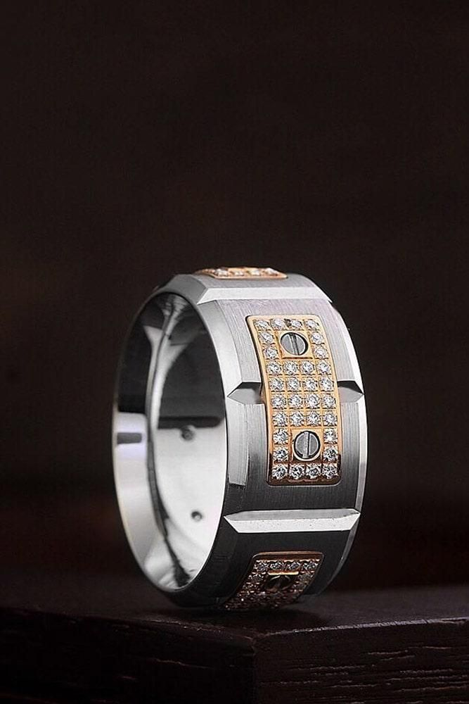 24 Unique Wedding Rings For Somebody Special With Images Wedding Rings Unique Mens Wedding Rings Cool Wedding Rings