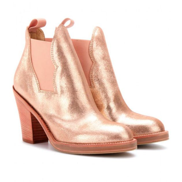 I just really really want these. Gaaaah  [Eliza's Rodeo-Friendly, Rose Gold Booties - Fashionista]