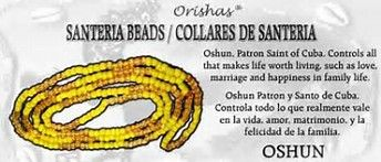 Santeria Beads for Goddess Oshun
