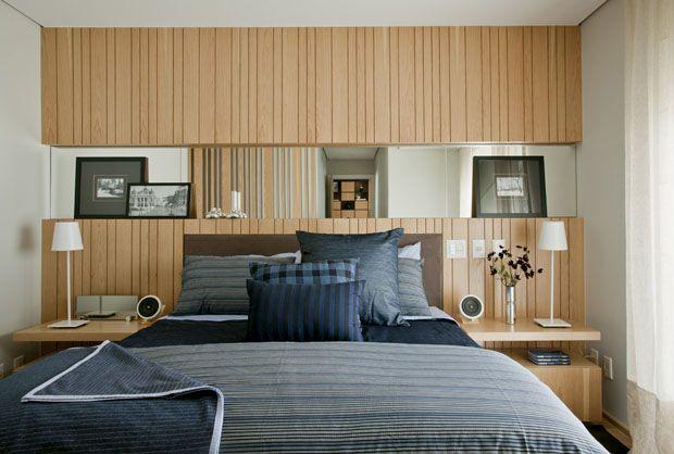 parede da cama de madeira