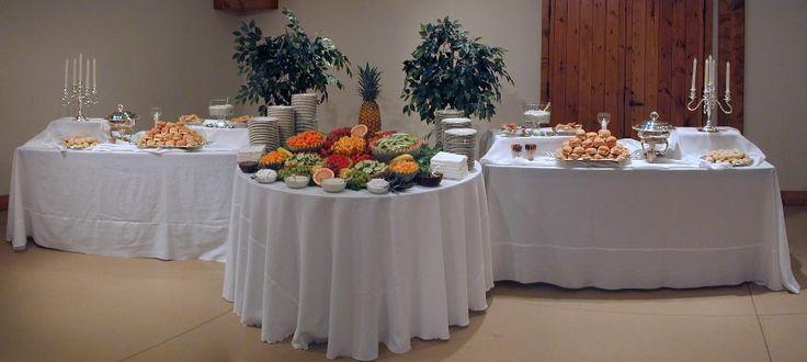 Wedding reception food table setups brief description of - Food decoration for wedding ...