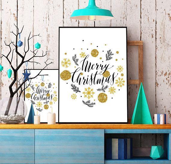 Christmas decorations christmas printable wall art holiday