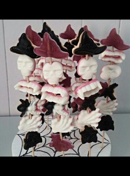 Pinchitos duces halloween realizado por Dulcetendencia.