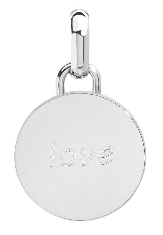Love pendant, 15mm, stainless steel