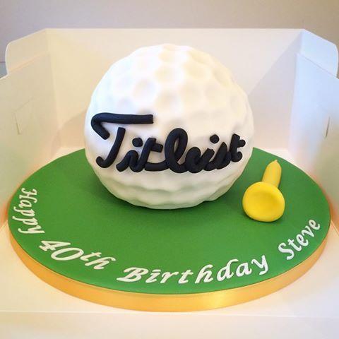 Golf ball cake I made #lydiaclarescakes #titleist #golf #golfball #golfballcake #golfcake #baking #icing #cakedecorating #cake #birthdaycake #birthday #happybirthday #homemade #handmade #golftee #golfingaround