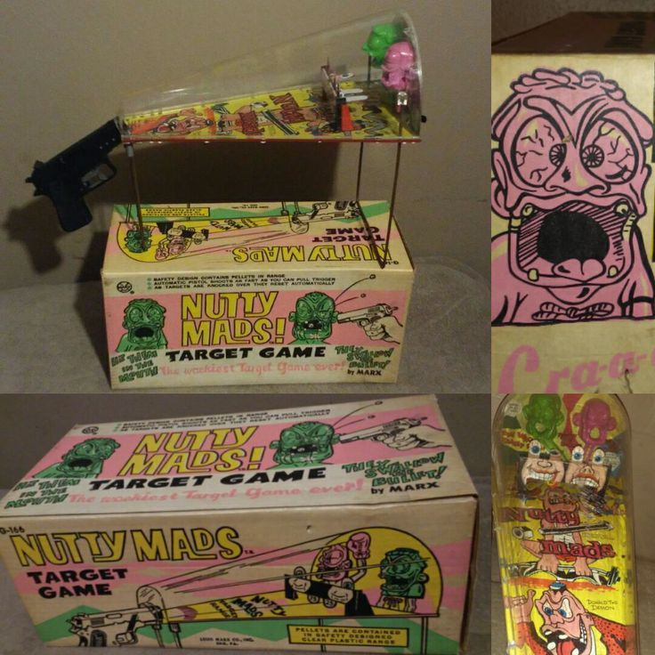 Another top favorite in my collection. Boxed #1960s #marx Nutty Mads target #game.... #toys #toycollector #toymuseum #toyphotos #toypicture #monster #horror #odd #collection #personalcollection #toys #midcentury #retro #collectibles NFS