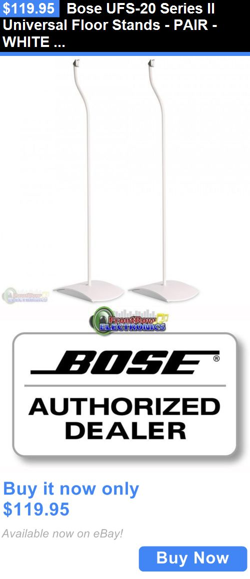 Speaker Mounts and Stands: Bose Ufs-20 Series Ii Universal Floor Stands - Pair - White Ufs20 New BUY IT NOW ONLY: $119.95