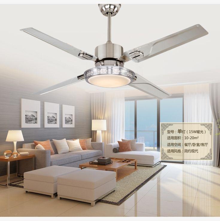 Led ceiling fan lights restaurant bedrooms modern fan - Bedroom ceiling fans with remote control ...