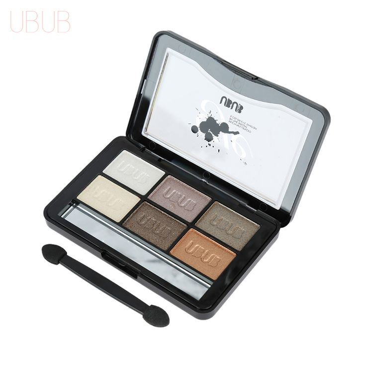 UBUB 6 Colors Roast Eye Shadow Powder Makeup Palette in Shimmer Metallic Glitter Cream Eyeshadow Palette for Beauty Women