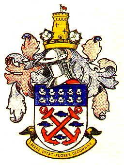 Arms of Exmouth Town Council, England