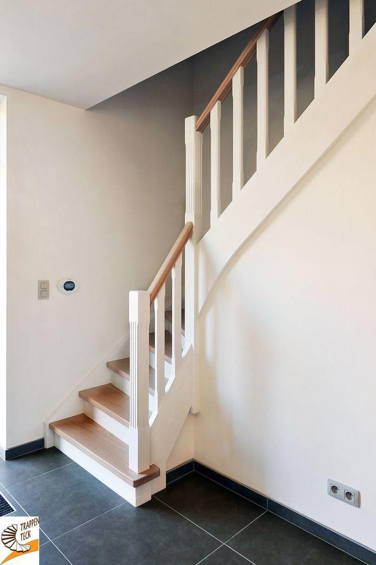 Landelijke trap landelijke trappen pinterest - Moderne trap kwartslag ...