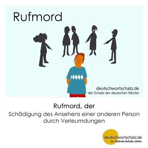 Rufmord_Deutsch_lernen_deutschwortschatz_Galerie