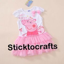 Peppa Pig Tutu - please visit page for sizing https://www.facebook.com/SticktocraftsHairAccessories?hc_location=timeline