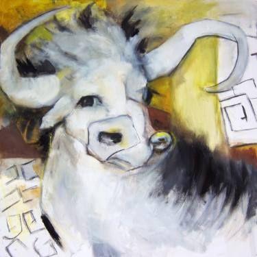 "Saatchi Art Artist Janet STRAYER ""Minotaur"" www.janetstrayer.com"