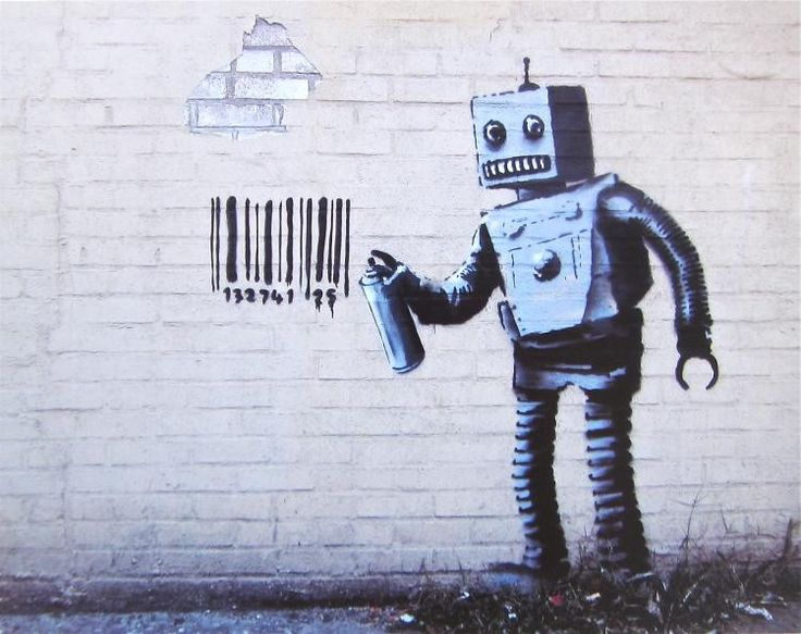 BANKSY (circa 1974- ) Banksy, a street artist whose identity remains unknown, is believed to have been born in Bristol, England, around 1974. He rose to prominence for his provocative stenciled pieces