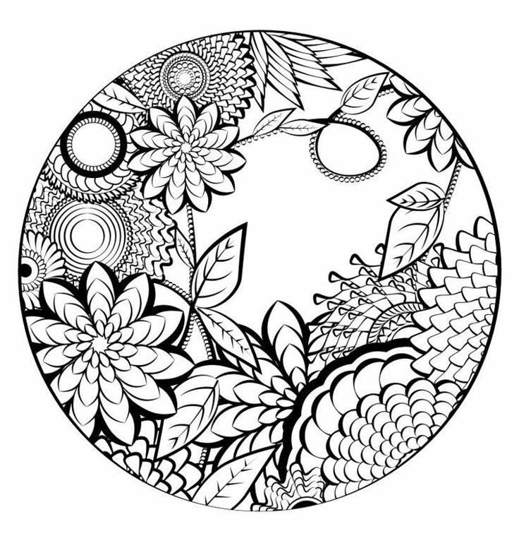 Coloriage imprimer mandala motifs cercles - Coloriage a imprimer mandala ...