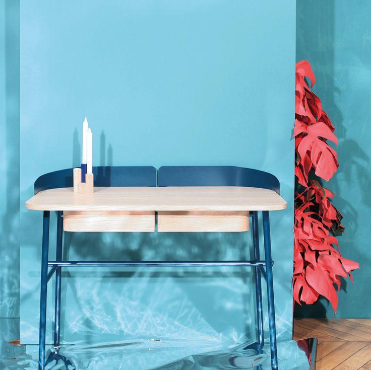 VICTOR - Cliché signé @studiodessuantbone , pour l'expo COLORAMA à l'occasion de la Paris Design Week.  // Paris Design Week picture of Gustave stil, shot by @studiodessuantbone for COLORAMA exhibition. In our showroom from tomorrow 6pm ! #harto #hartô #hartodesign #desk #victor #blue #farrowandball #inspiration #hartoedition #polaboy #studiodessuantbone #parisdesignweek #parisdesignweek2016 #frenchlabel #maisonetobjet2016