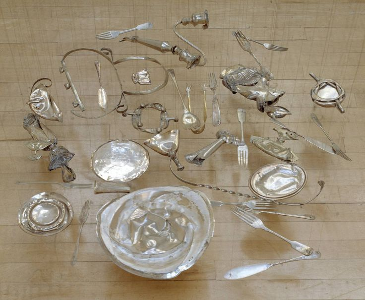 Cornelia Parker, 'Thirty Pieces of Silver' 1988-9