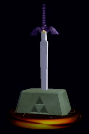 Master Sword - The Legend of Zelda - The Legend of Zelda games - Link's Sword - Link - Super Smash Bros. Melee trophy - Super Smash Bros. Melee - Nintendo GameCube - Nintendo