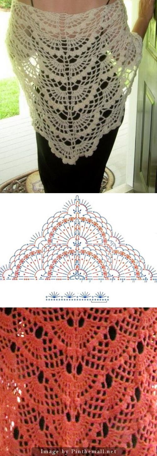 Wonderful Woman's Crochet Lace Shawl ~~