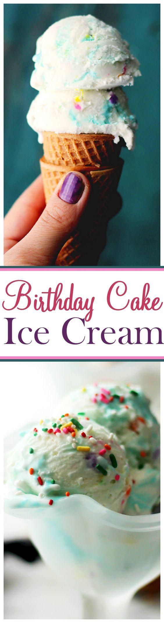 Birthday Cake Ice Cream Recipe Birthday cake ice cream