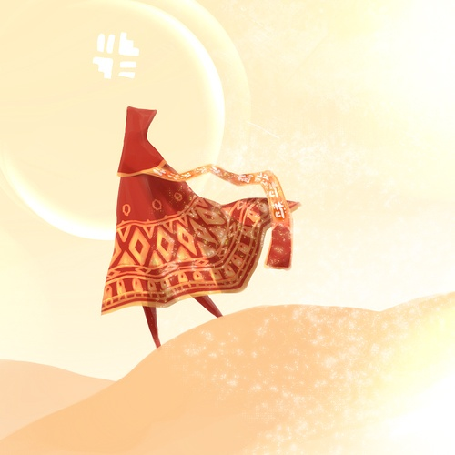Journey (PS3), one of the most moving and simple games that ever toyed with my emotions.