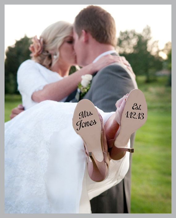 Hey, I found this really awesome Etsy listing at https://www.etsy.com/listing/158827713/wedding-shoe-decal