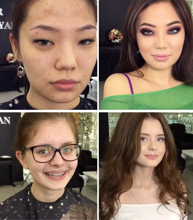 Russian makeup artist Goar Avetisyan's makeovers will convince you you can't possibly be looking at the same person. | 12 People Who Proved The Transformational Power Of Makeup In 2016