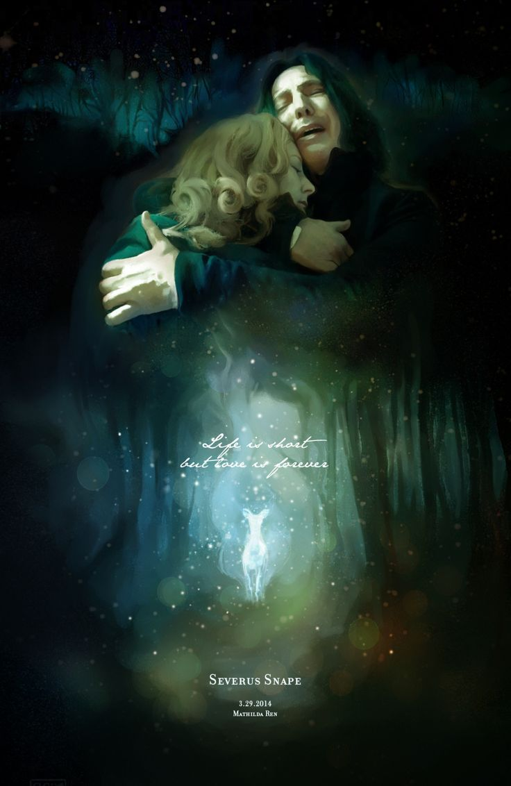 Life is short, but love is forever. (Cool & Warm Version) For Professor Snape, my tragic hero… Painter+Photoshop, total 6 hrs.