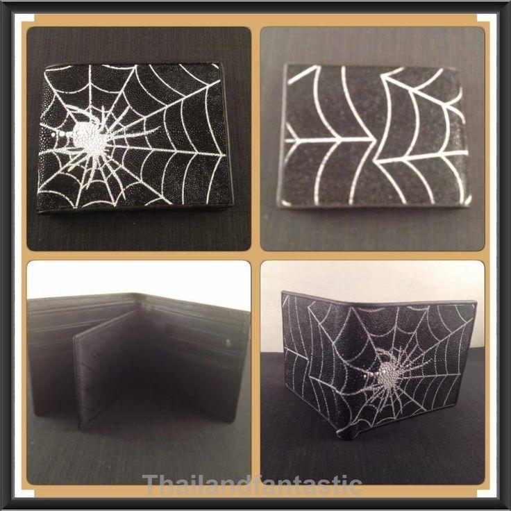 Black White Cobweb Genuine Stingray Leather Skin Clutch Wallet Bag Bifold  Price:US $52.99  http://www.ebay.com/itm/151896278235  #ebay #paypal #thailandfantastic #Black #White #Cobweb #Genuine #Stingray #Leather #Skin #Clutch #Wallet #Bag #Bifold