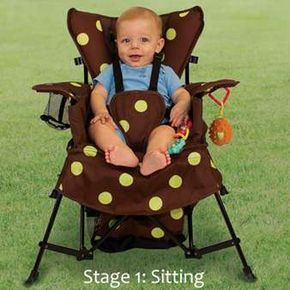 I want this when I have kids for softball! Go with Me Chair. 3months - 6 years (up to 75lbs).