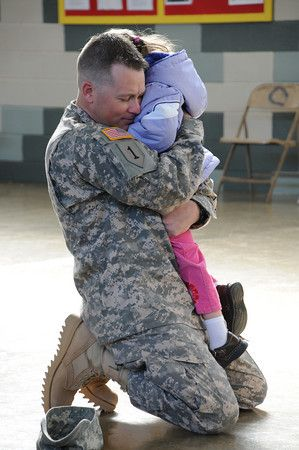 Military officer with child. 11 Father's Day Ideas, Gifts, and Quotes!