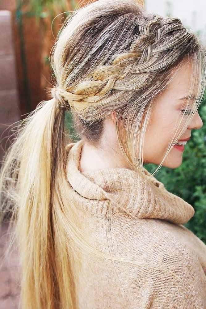 beautiful long hair ponytail