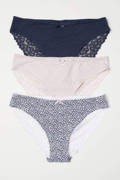 c62e725098c02 3-pack Cotton Bikini Briefs - Blue  jersey wide lace