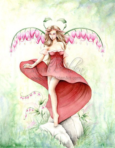 Hey, I found this really awesome Etsy listing at https://www.etsy.com/listing/170983066/valentine-fairy-art-bleeding-heart
