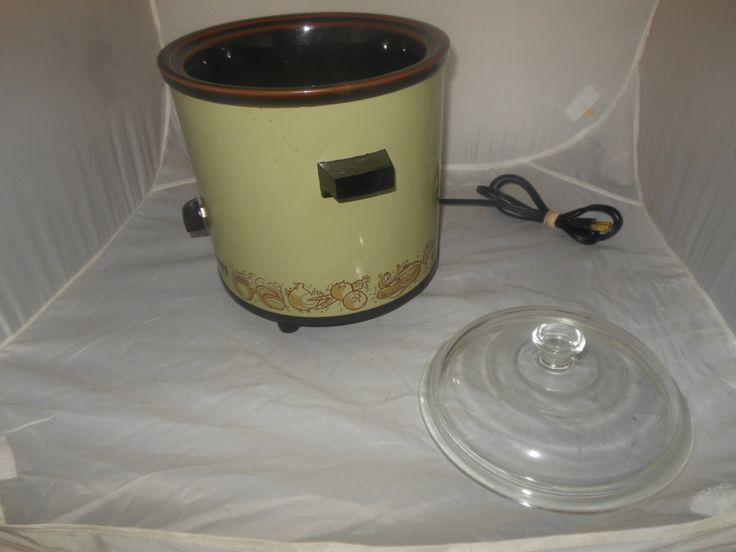 Vintage Rival Crock Pot, Model 3100/1, 70-140 watts, 120 volts, 50-60 cycle, Rival Mfg Co., Avocado Green slow cooker, Retro Rival Crock Pot by TrueVintageandMade on Etsy