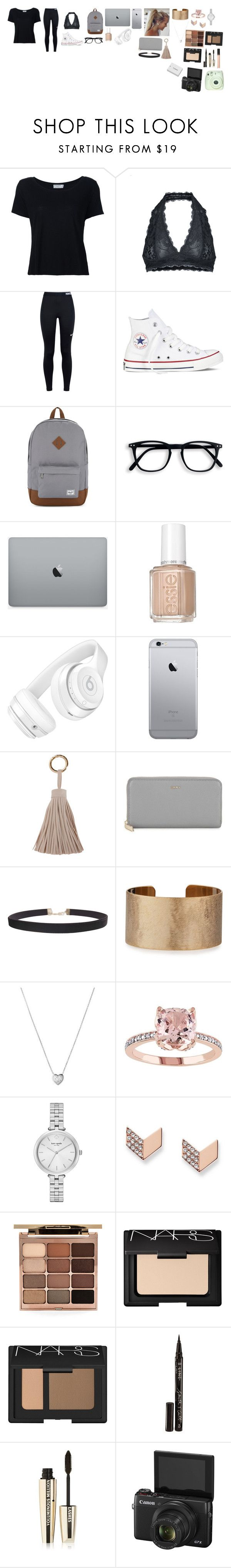 """""""Picture day with family📷🎥💄👠💋"""" by katelynrose123 ❤ liked on Polyvore featuring Frame Denim, Free People, NIKE, Converse, Herschel Supply Co., Beats by Dr. Dre, Humble Chic, DKNY, Panacea and Links of London"""