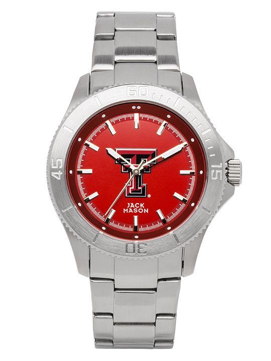 Texas Tech Red Raiders Sport Bracelet Team Color Dial Watch by Jack Mason
